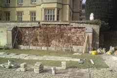 Ashlar Wall Before