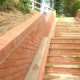 New steps and ramp on cycle path Torquay